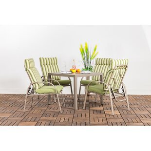 Thorin 5 Piece Dining Set with Cushions b..