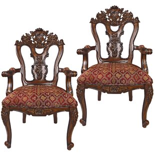 The Isabella Ornate Armchair (Set of 2) by Design Toscano