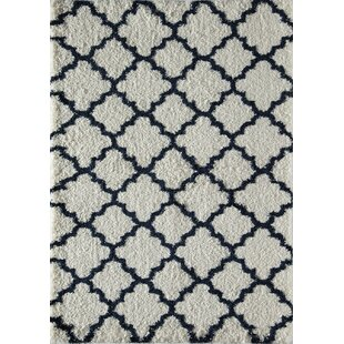 Top Reviews Dream Quatrefoil Ivory/Navy Area Rug By Rugs America