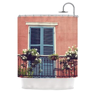New Orleans Balcony Single Shower Curtain