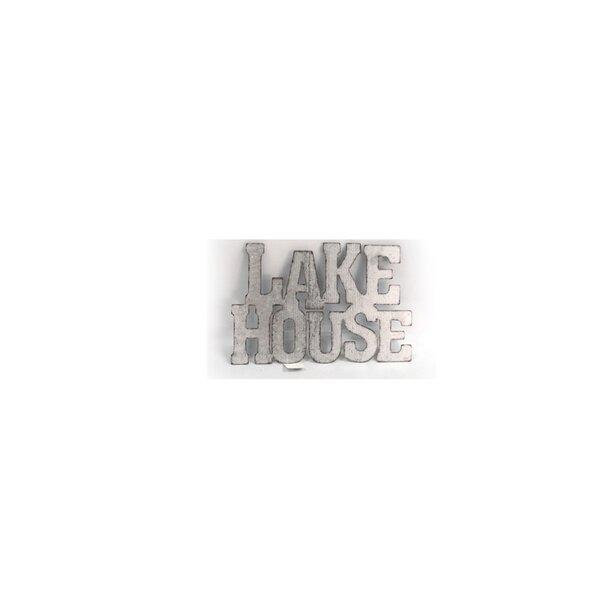 Breakwater Bay Lake House Metal Word Wall Décor | Wayfair