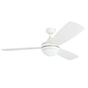 52 Alyce 3 Blade LED Ceiling Fan with Remote Control by Wrought Studio