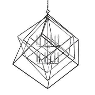 Brayden Studio Pederson 12-Light Geometric Chandelier