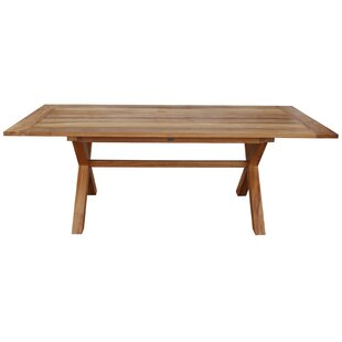 Chumley Cross Teak Dining Table