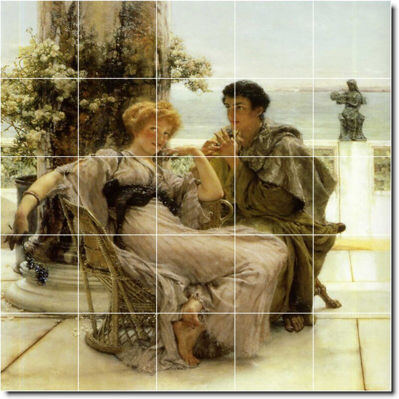 Picture Tiles Com 40 X 40 Ceramic Lawrence Alma Tadema Historical Painting Decorative Mural Tile 193 8 X 8 Set Of 25 Wayfair
