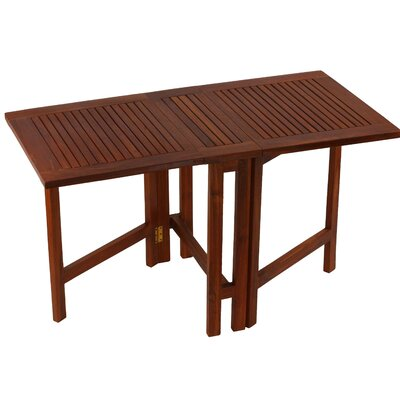 Kinner Folding Teak Dining Table by Highland Dunes Read Reviews