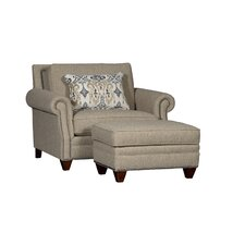 Tyngsborough Chair and Half and Ottoman by Chelsea Home Furniture