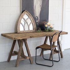 Hilaire Recycled Wooden Deep Console Table by Gracie Oaks