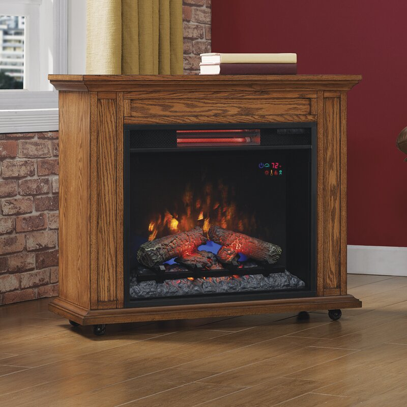 Electric Fireplace electric fireplace mantel : Duraflame Rolling Mantel with Infrared Quartz 33