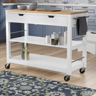 Destanee Kitchen Island with Bamboo Top DarHome Co