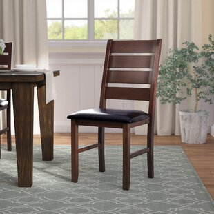 Stanley PU Ladder Back Side Chair by Alcott Hill