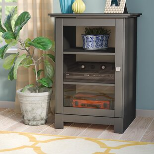Kew Gardens 1 Door Audio Cabinet in Black by Andover Mills