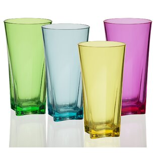 Zoey 8-Piece 20 oz. Acrylic Drinking Glass Set (Set of 8)