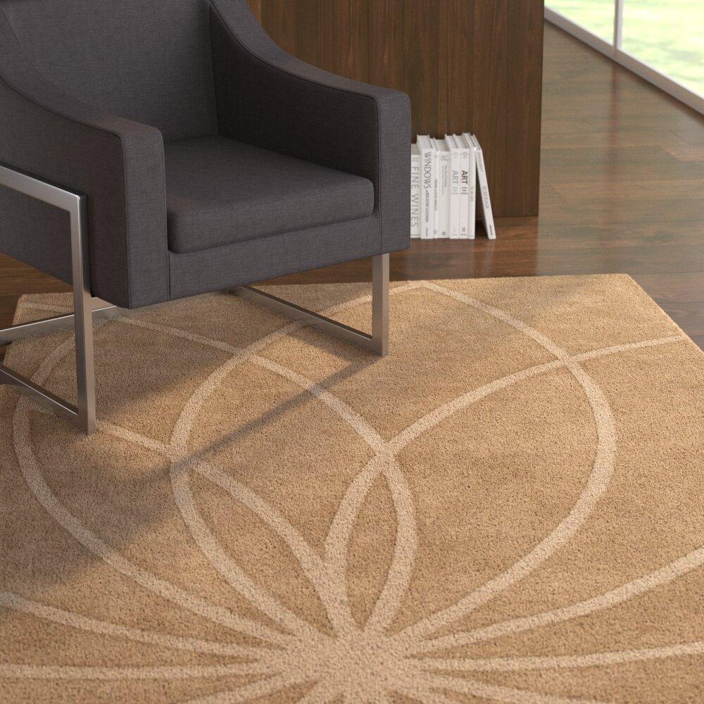Ebern Designs Dorthea Abstract Handmade Wool Dark Brown Area Rug Wayfair