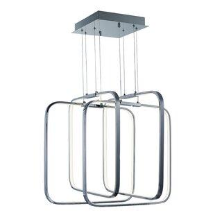 Orren Ellis Hesperus 4-Light LED Square/Rectangle Chandelier