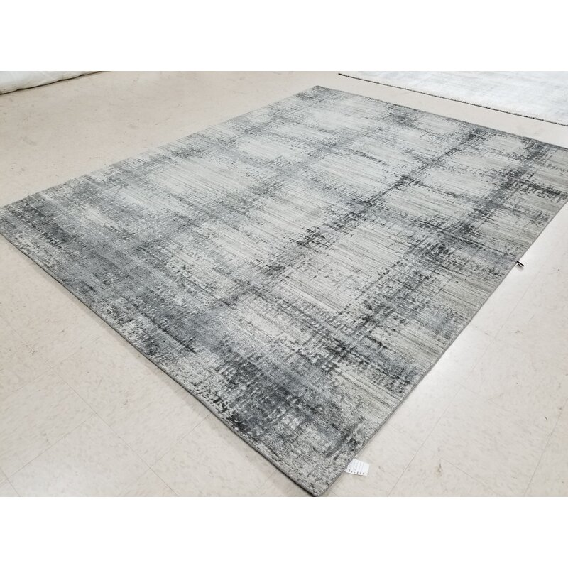 Williston Forge Brooklyn Abstract Hand Knotted Gray Area Rug Wayfair