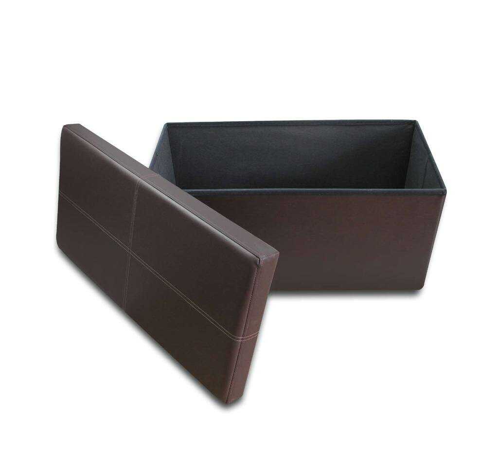 """Winston Porter Delrick 30"""" Wide Faux Leather Rectangle Storage"""