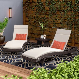 Ardoin Reclining Chaise Lounger Set with Cushion