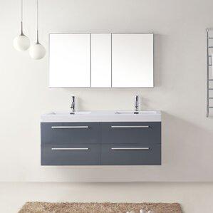 54 bathroom vanity double sink. Cartagena 54  Double Bathroom Vanity Set with White Top 51 55 Vanities You ll Love Wayfair