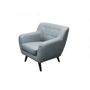 Mid Century Modern Tufted Bonded Leather Armchair by Madison Home USA