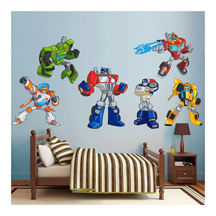 Hasbro Transformers Rescue Bots Peel and Stick Wall Decal  sc 1 st  Wayfair.ca & Fathead Hasbro Transformers Rescue Bots Peel and Stick Wall Decal ...