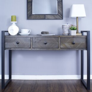 Delphine 3 Drawer Console Table by 17 Stories