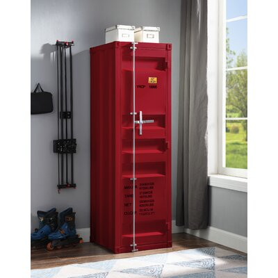 Jamar Wardrobe Armoire Breakwater Bay Color: Red