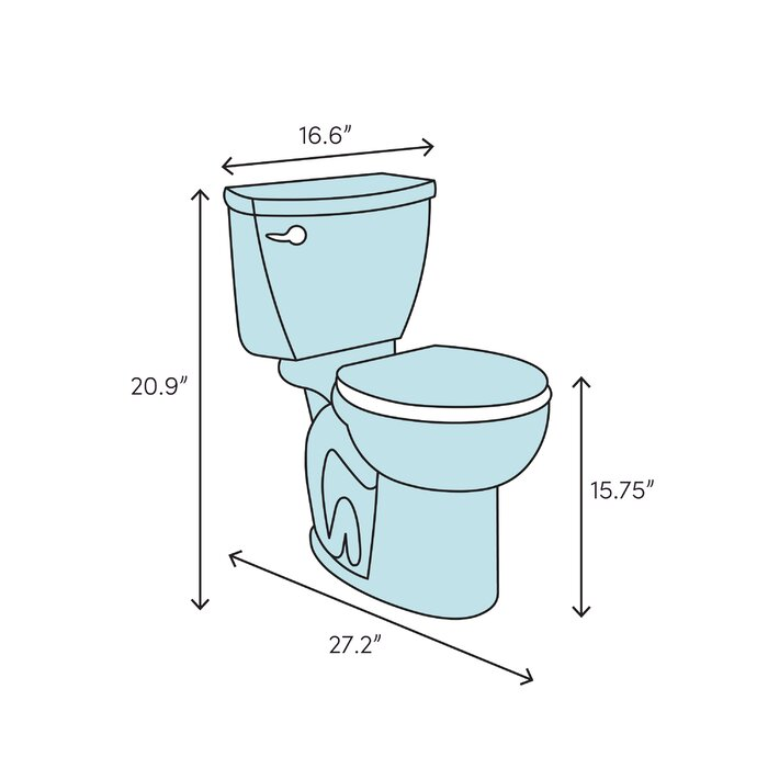 Astonishing 1 27 Gpf Water Efficient Elongated One Piece Toilet Seat Included Uwap Interior Chair Design Uwaporg
