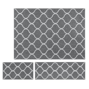 Low priced Hershman 3 Piece Gray Area Rug Set By Charlton Home