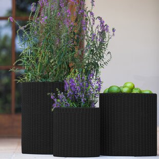 3-Piece Plastic Pot Planter