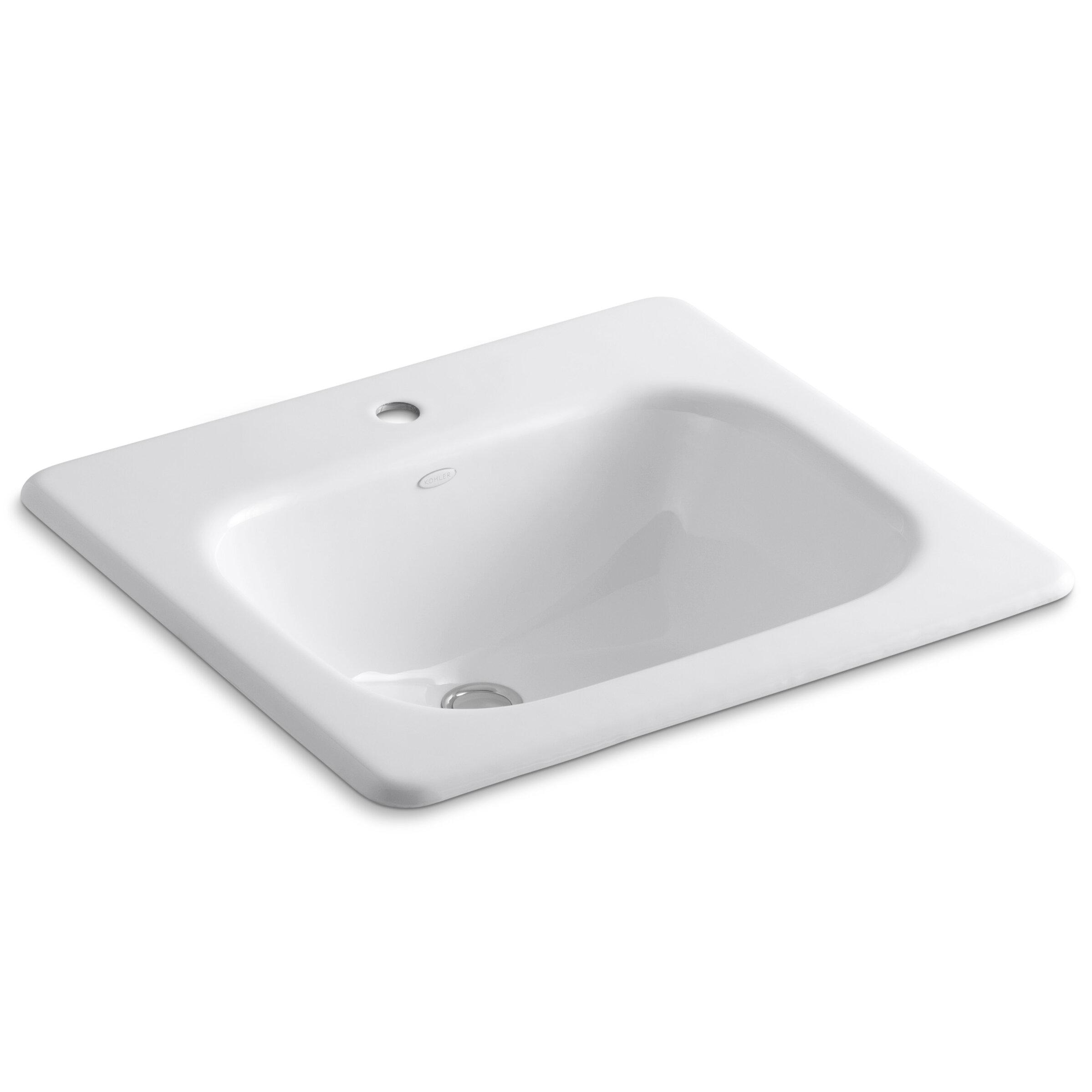 Metal Rectangular Drop In Bathroom Sink