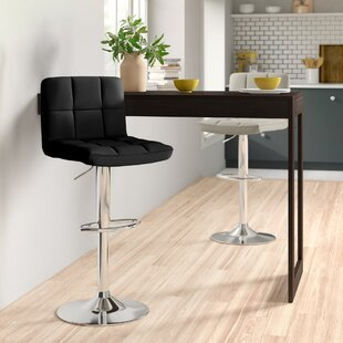 Shayna Height Adjustable Swivel Bar Stool By Zipcode Design