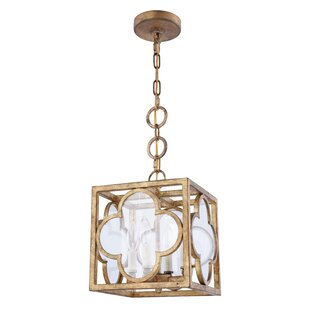 Bungalow Rose Angelo Transitional 4-Light Square/Rectangle Pendant