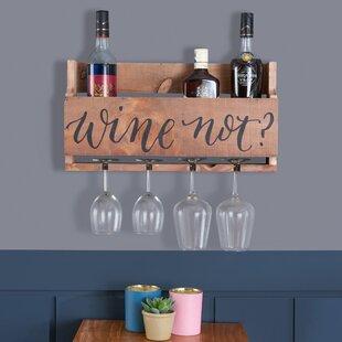 Salvador Wooden Stemware 10 Bottle Wall Mounted Wine Rack by Winston Porter