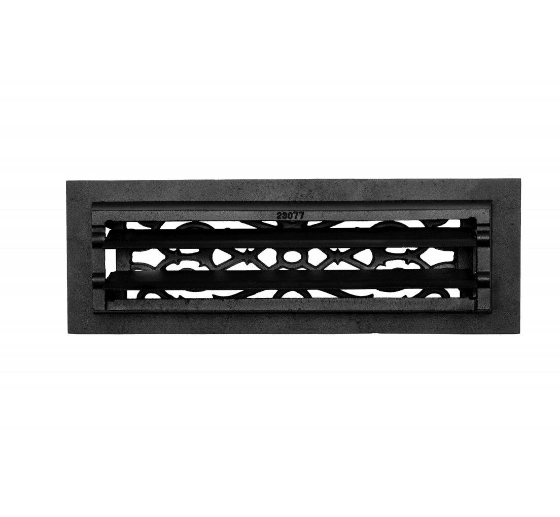 The Renovators Supply Inc 5 5 X 16 Cast Aluminium 4 Floor Heat Register Louver Vent In Black Wayfair