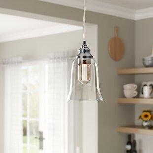 Laurel Foundry Modern Farmhouse Du Bois Cord-Hung 1-Light Bell Pendant