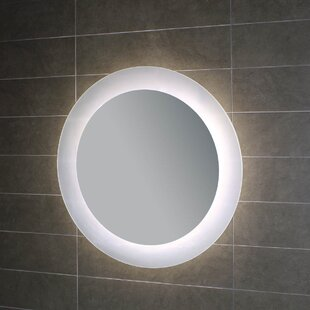 WS Bath Collections Geometrie Lighted LED Wall Mirror