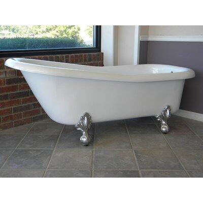 "Restoria Bathtub Company Ambassador 60"" x 30"" Freestanding Bathtub Colour: Chrome"