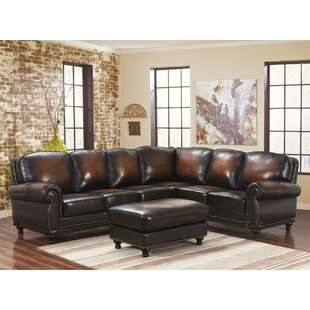 Chattanooga Leather Modular Sectional with Ottoman