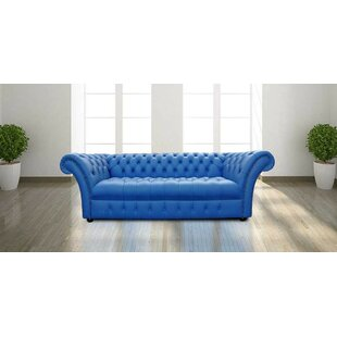 Dolores Lawrence Genuine Leather 3 Seater Chesterfield Sofa By 17 Stories