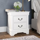Waynesburg 2 - Drawer Solid Wood Nightstand by Alcott Hill®