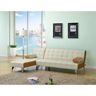 Yarbro Adjustable Genuine Leather Sofa by Orren Ellis