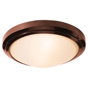 Price comparison Decoteau 2-Light Outdoor Flush Mount By Ivy Bronx