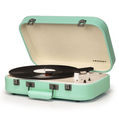 Coupe Turntable Crosley Electronics Color: Teal