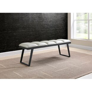 Matchett Faux Leather Bench by Ivy Bronx