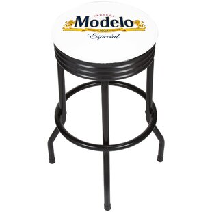 Modelo Ribbed 28.5 Swivel Bar Stool by Trademark Global