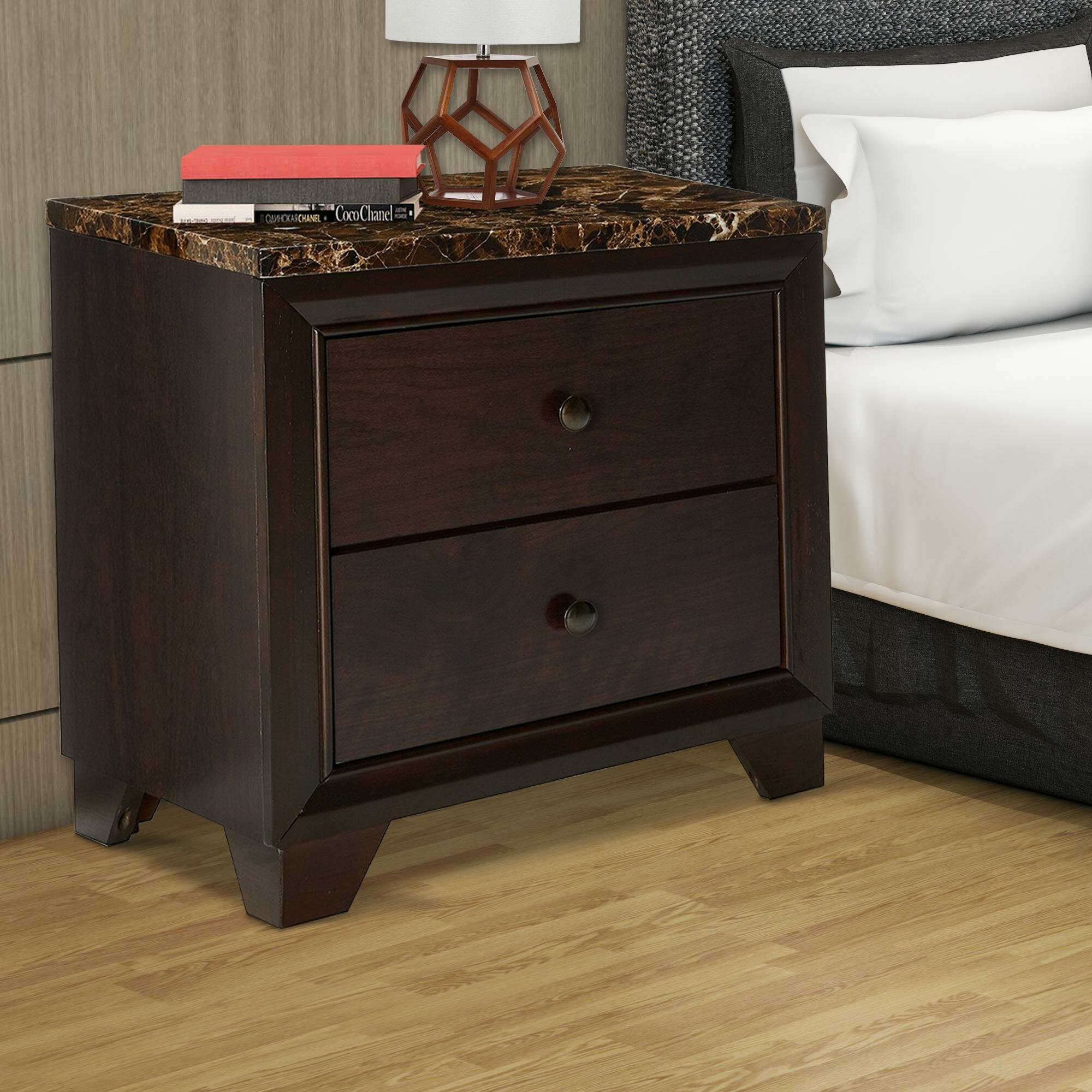 Hawkesbury Faux Marble Top Wooden