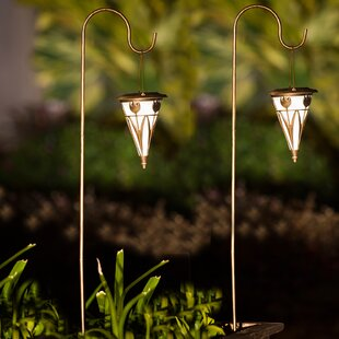 Flower Solar 1-Light Pathway Light (Set of 2)