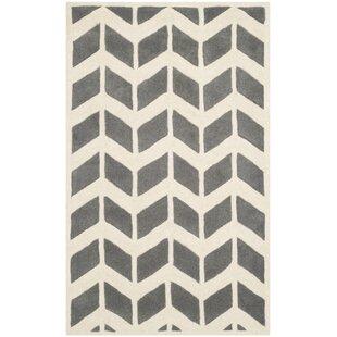 Brynn Hand-Tufted Wool Dark Grey/Ivory Area Rug by Safavieh