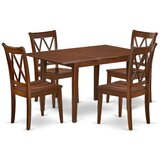 Lambright 5 Piece Extendable Solid Wood Dining Set by August Grove®